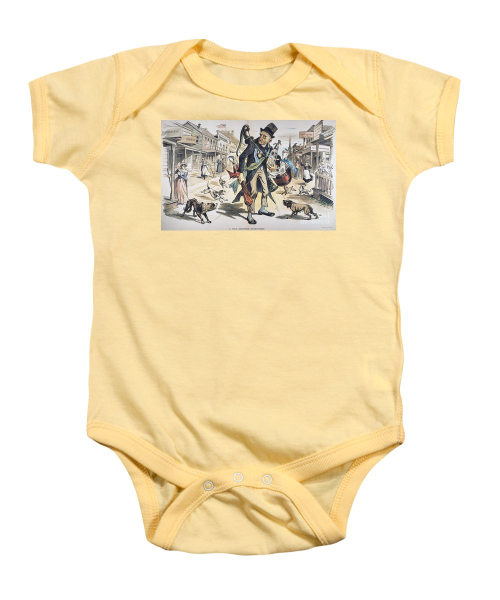 1889 Baby Onesie featuring the painting Prohibition Cartoon, 1889 by Granger