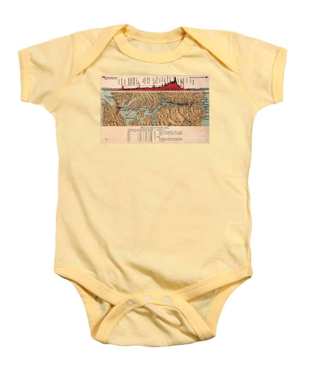 1914 Baby Onesie featuring the painting Card: Panama Canal, 1914 by Granger