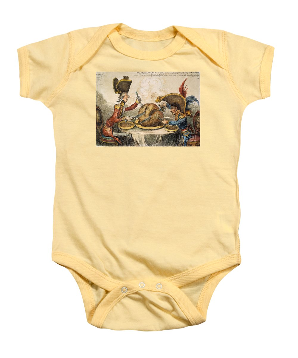 1805 Baby Onesie featuring the painting Napoleon Cartoon, 1805 by Granger