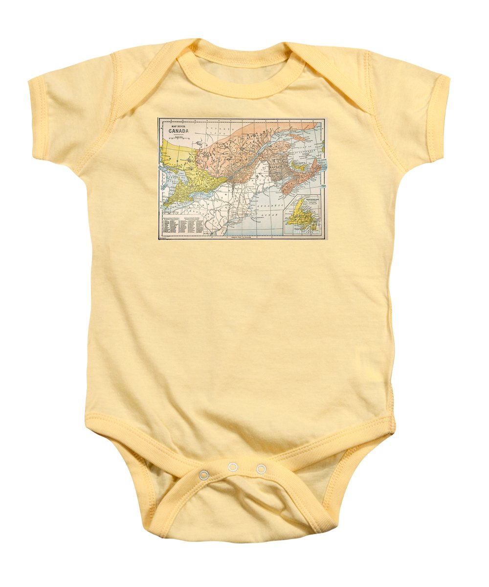 19th Century Baby Onesie featuring the painting Map: Eastern Canada by Granger