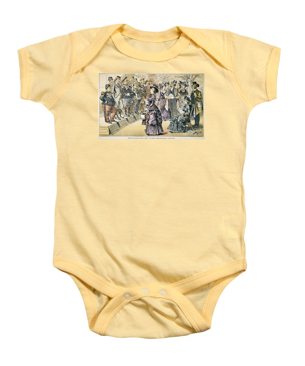 1895 Baby Onesie featuring the painting Marriage For Titles, 1895 by Granger