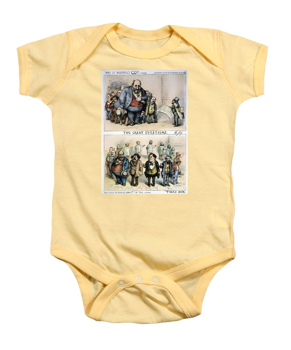 1871 Baby Onesie featuring the painting Nast: Tweed Corruption by Granger