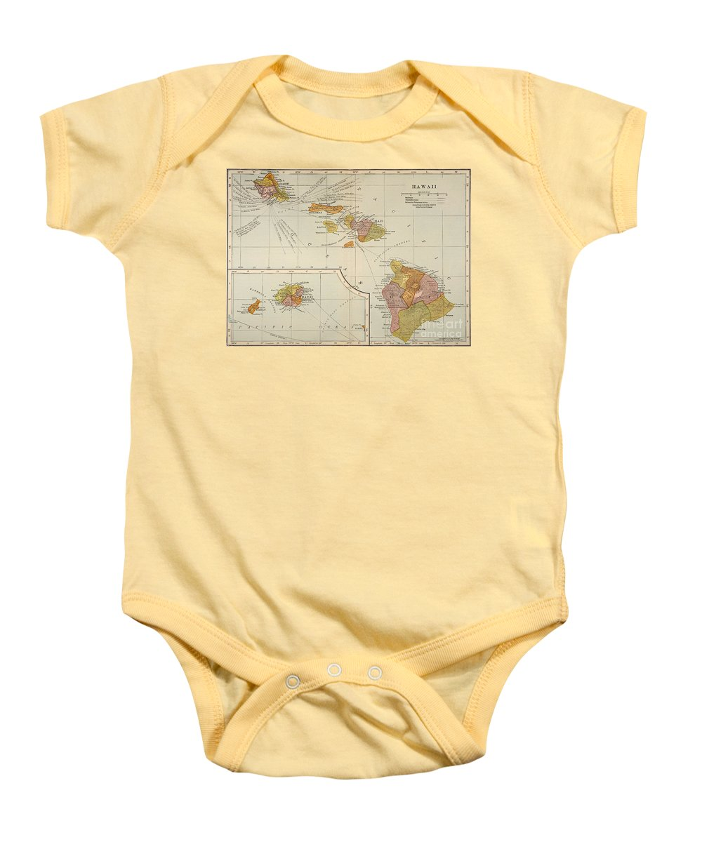 1905 Baby Onesie featuring the painting Map: Hawaii, 1905 by Granger