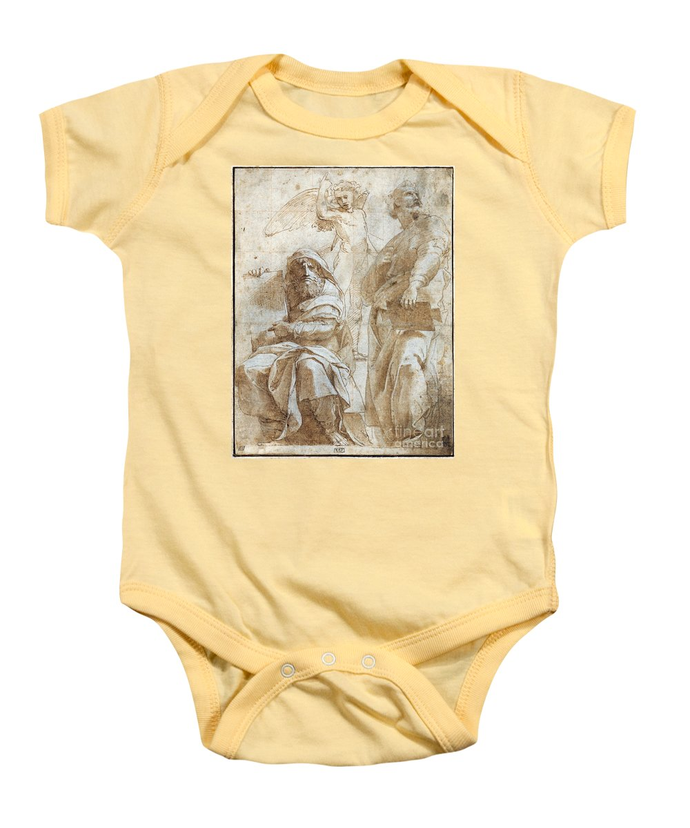 1510 Baby Onesie featuring the painting Raphael: Study, C1510 by Granger