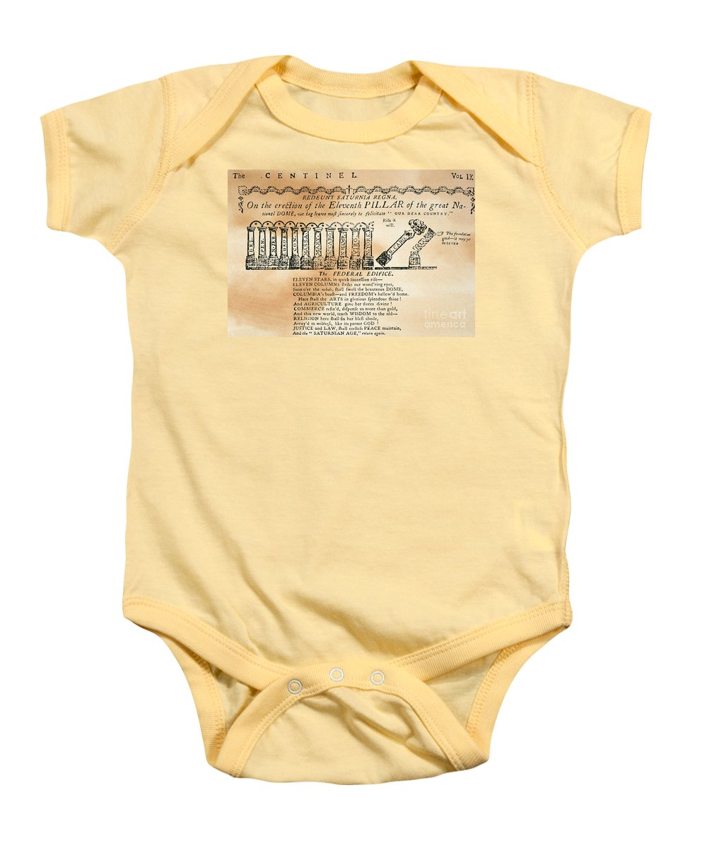 1788 Baby Onesie featuring the photograph Cartoon: Constitution by Granger