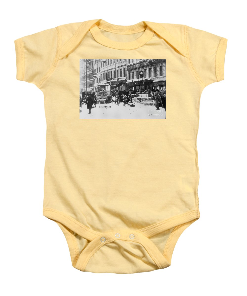 1917 Baby Onesie featuring the photograph Revolution Of 1917 by Granger