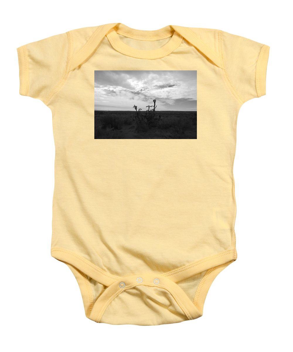 Black And White Baby Onesie featuring the photograph Rio Rancho by Rob Hans