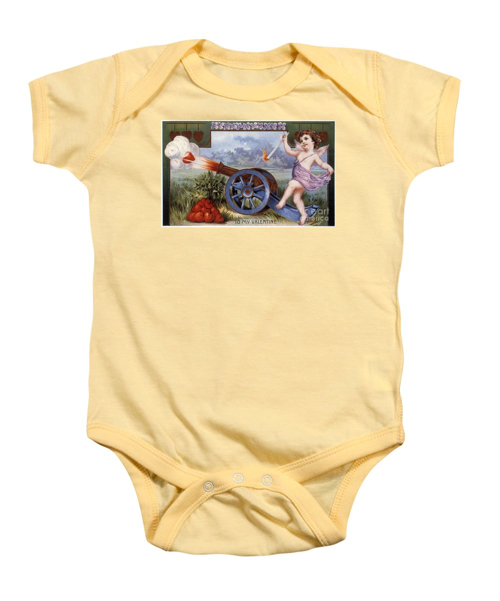 1915 Baby Onesie featuring the photograph St. Valentines Day Card by Granger