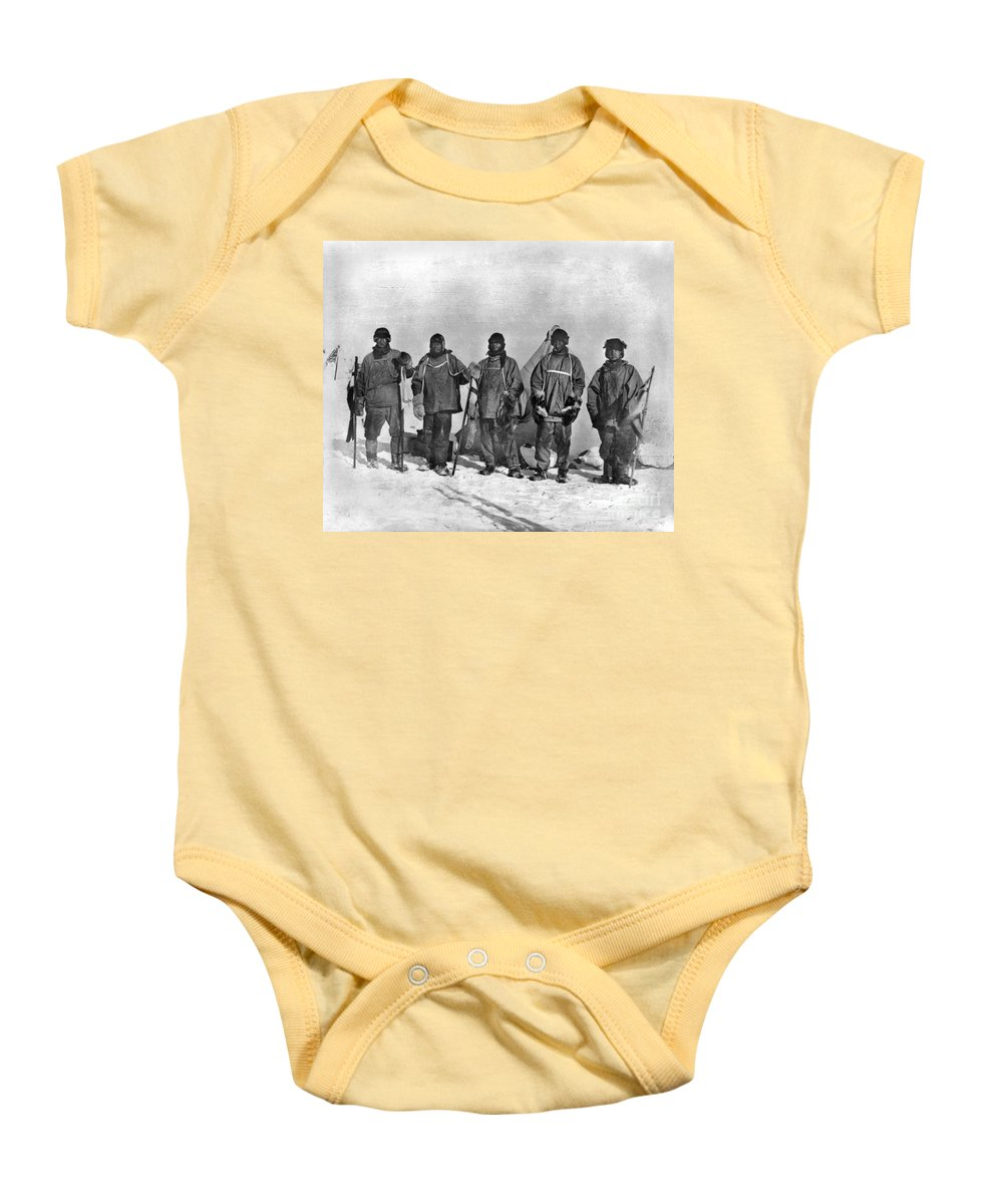 1912 Baby Onesie featuring the painting Terra Nova Expedition by Granger