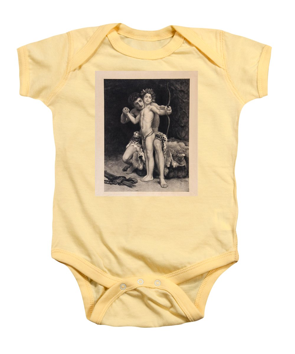 After Frederic Lord Leighton Baby Onesie featuring the painting Training by MotionAge Designs