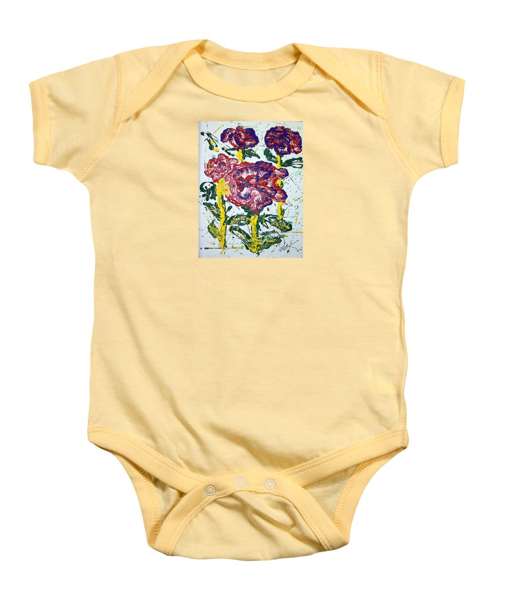 Abstract Painting Baby Onesie featuring the painting Untitled by J R Seymour