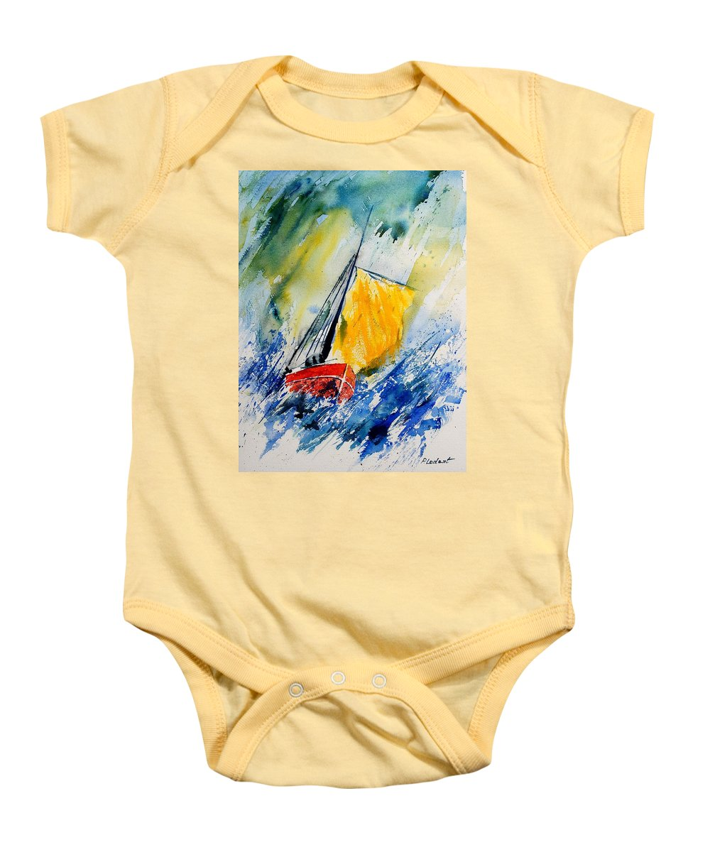 Sea Baby Onesie featuring the painting Watercolor 280308 by Pol Ledent