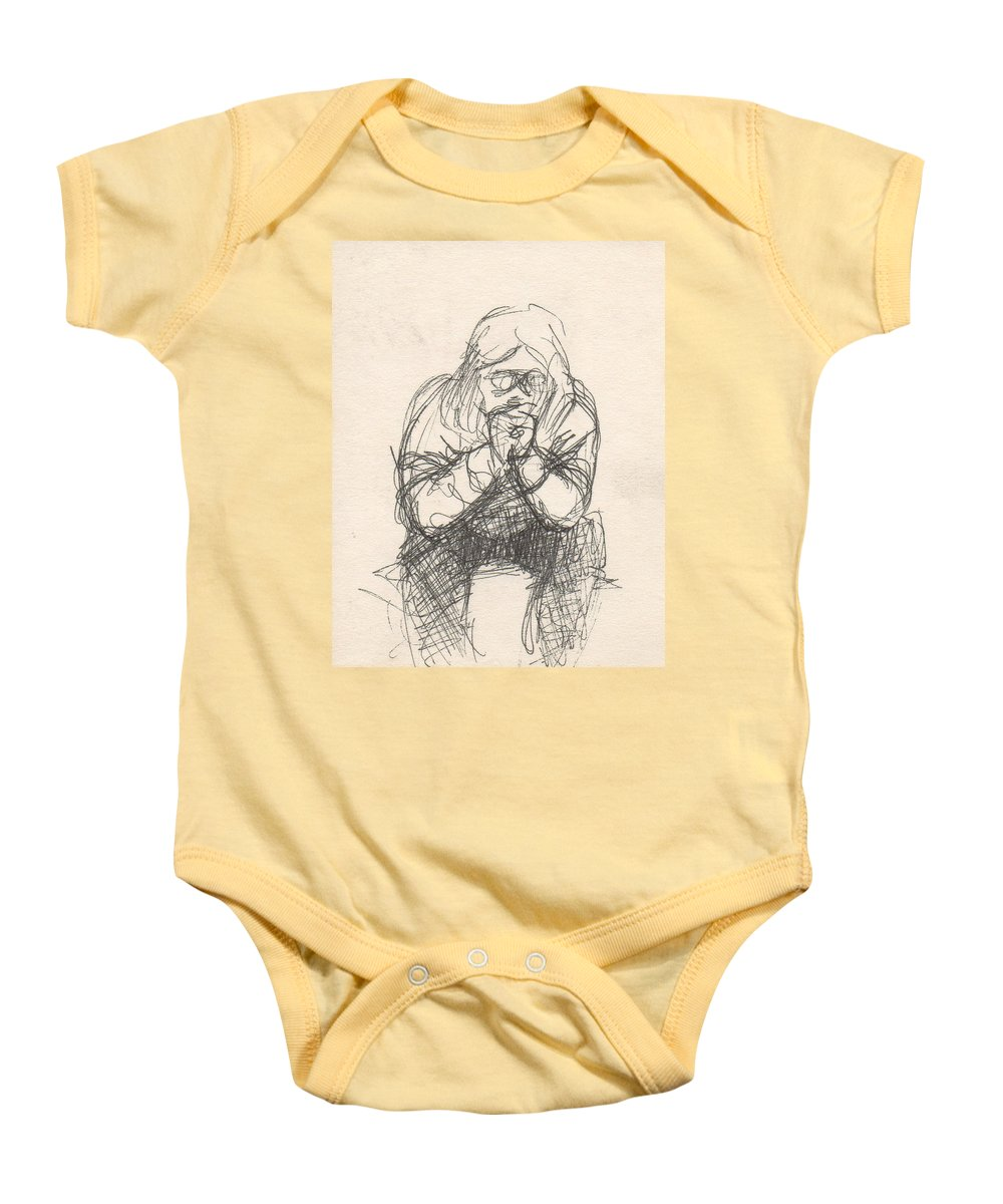 Small Baby Onesie featuring the drawing Untitled by T Ezell