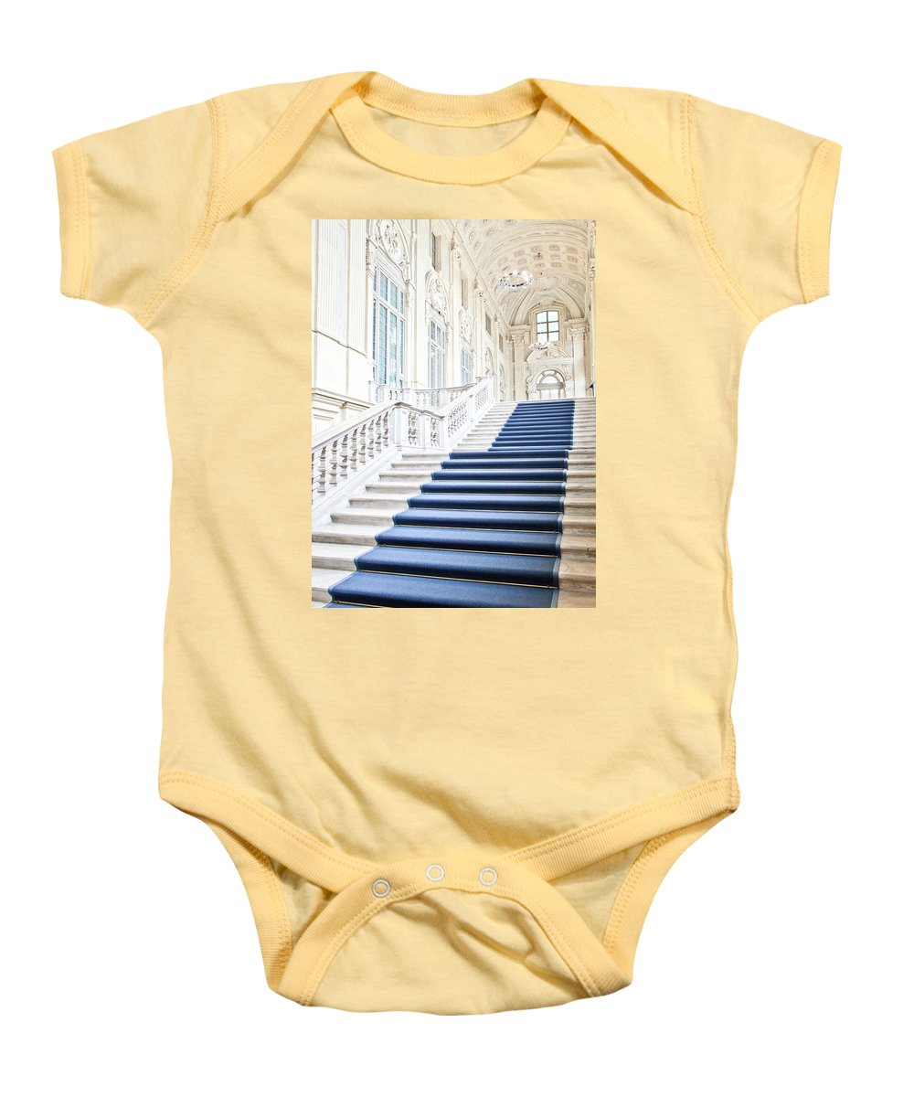 Architecture Baby Onesie featuring the photograph Luxury Interior In Palazzo Madama, Turin, Italy by Paolo Modena