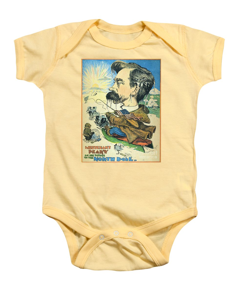1902 Baby Onesie featuring the painting Robert Peary (1856-1920) by Granger