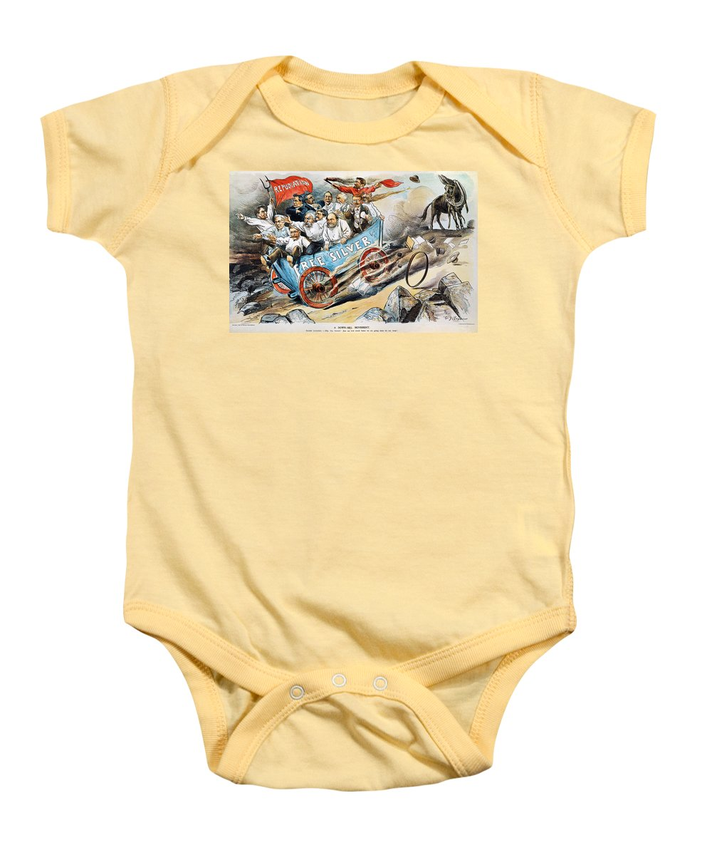 1896 Baby Onesie featuring the photograph Free Silver Cartoon, 1896 by Granger