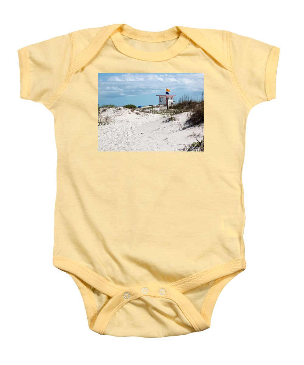 Florida Baby Onesie featuring the photograph Jetty Park On Cape Canaveral In Florida by Allan Hughes