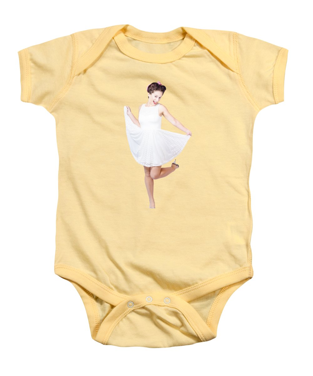 Pin Up Girl Poster Baby Onesies | Fine Art America