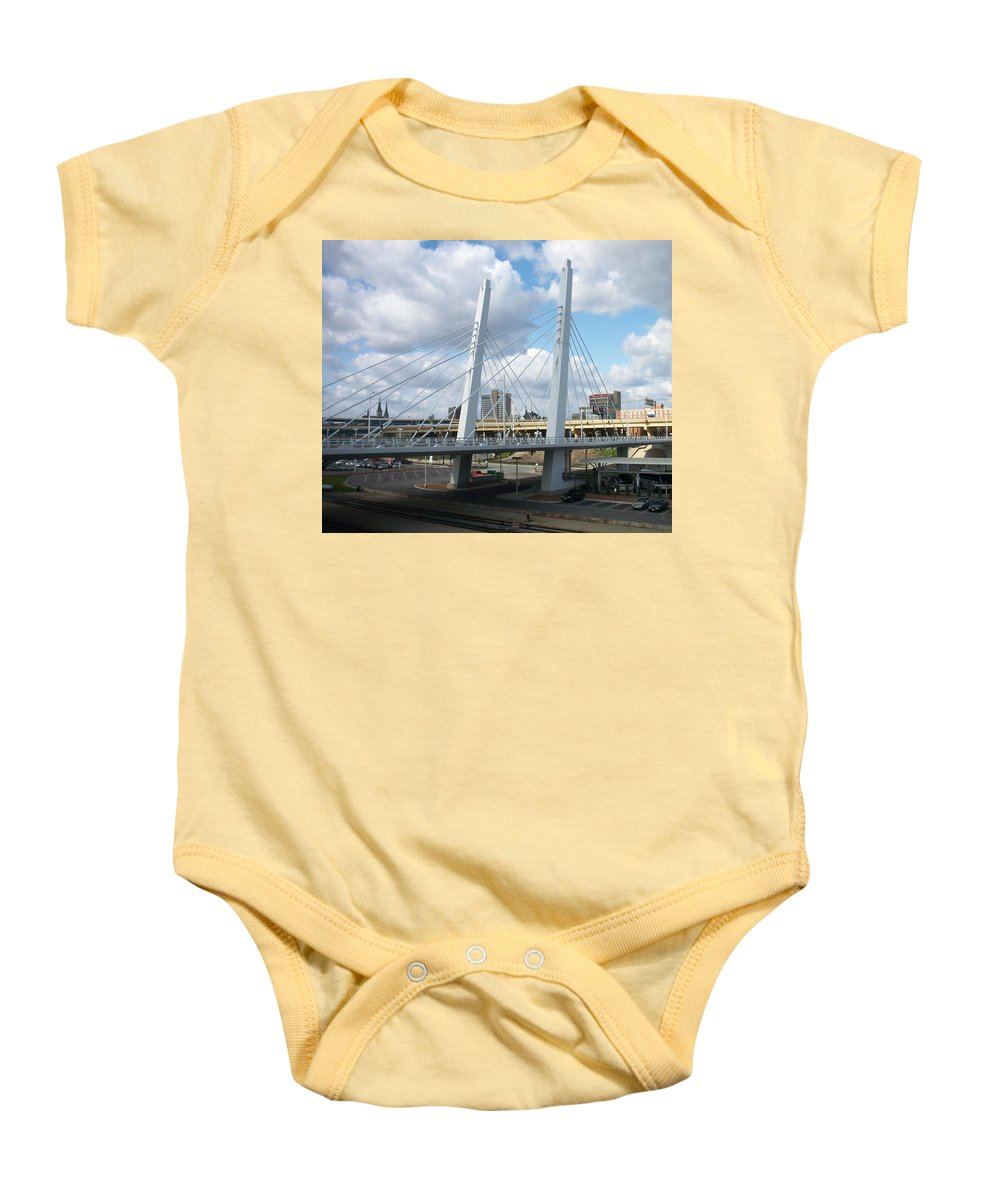 Bridge Baby Onesie featuring the photograph 6th Street Bridge by Anita Burgermeister