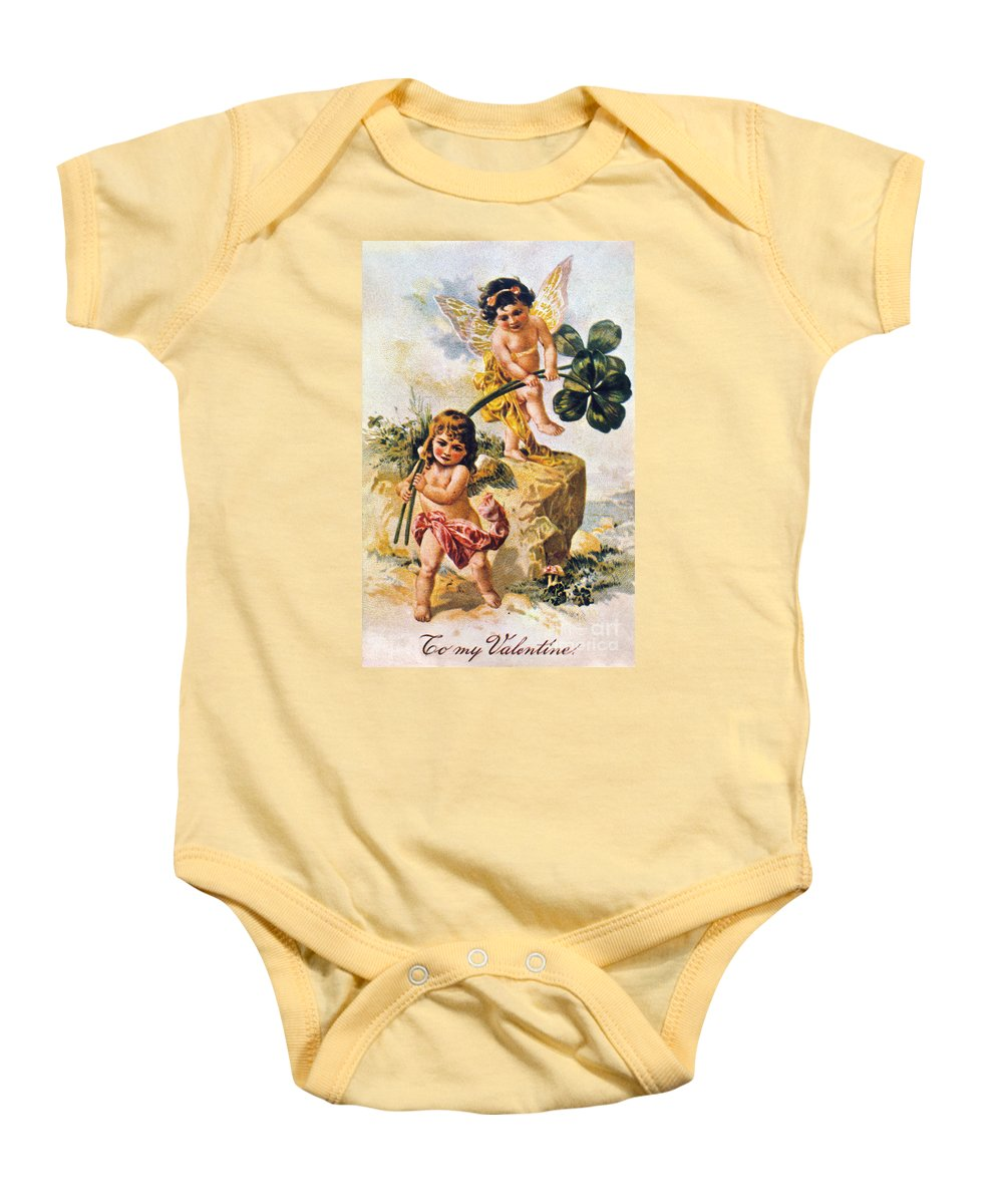 1900 Baby Onesie featuring the photograph Valentines Day Card by Granger