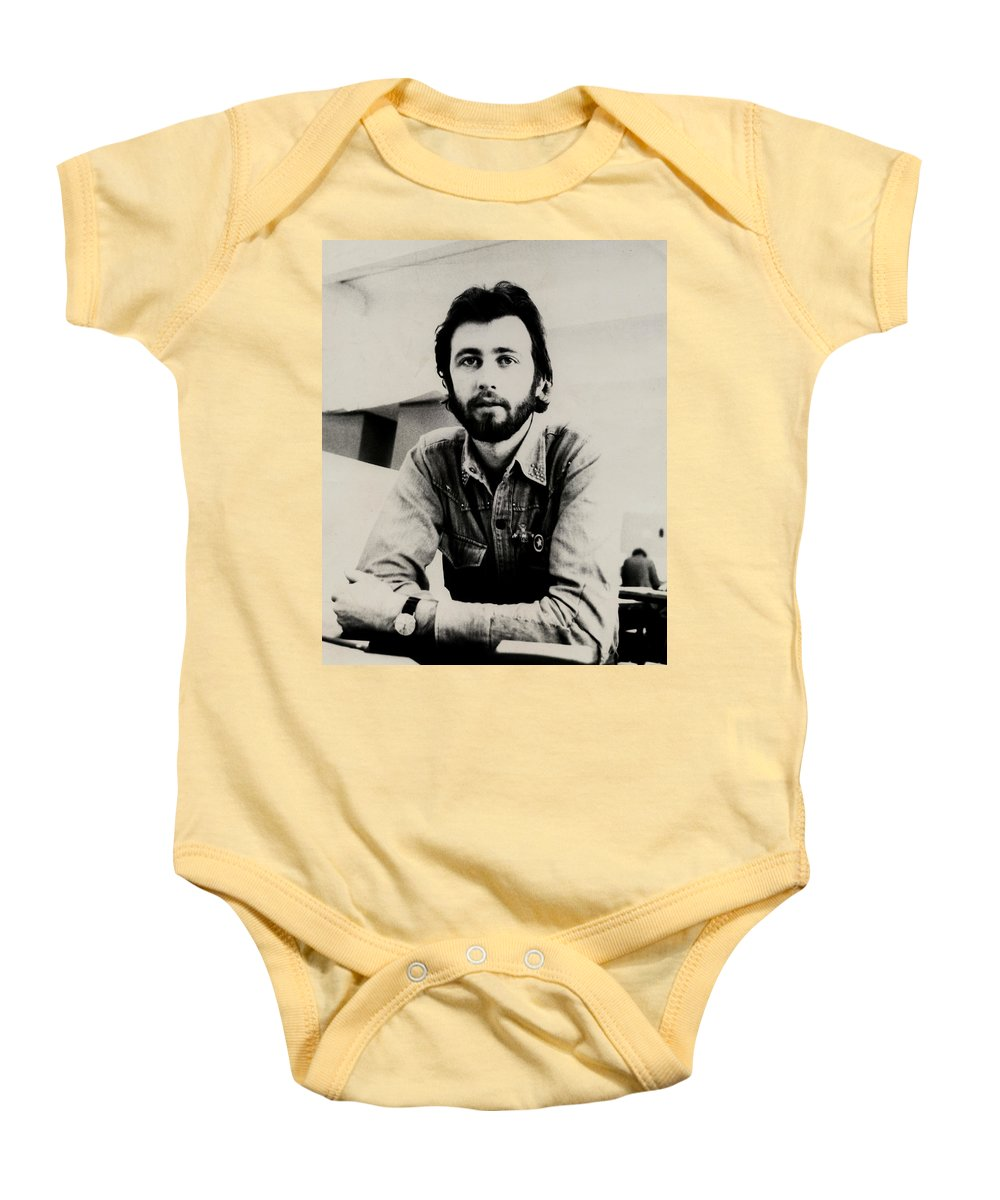 Young Man Baby Onesie featuring the photograph A Portrait Of The Artist As A Young Man by Charles Stuart