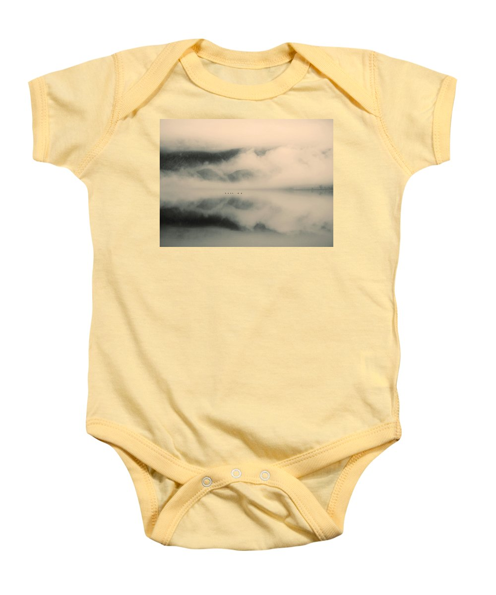 Lake Baby Onesie featuring the photograph A Study Of Clouds by Tara Turner