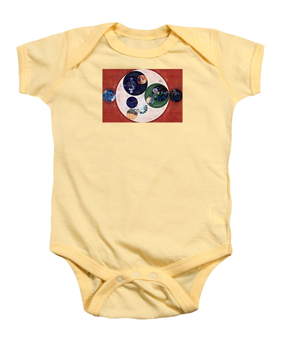 Shape Baby Onesie featuring the digital art Abstract Painting - Bizarre by Vitaliy Gladkiy