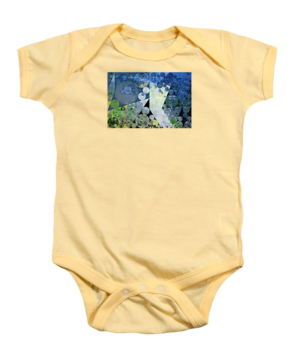 Visionary Baby Onesie featuring the digital art Abstract Painting - Paris White by Vitaliy Gladkiy