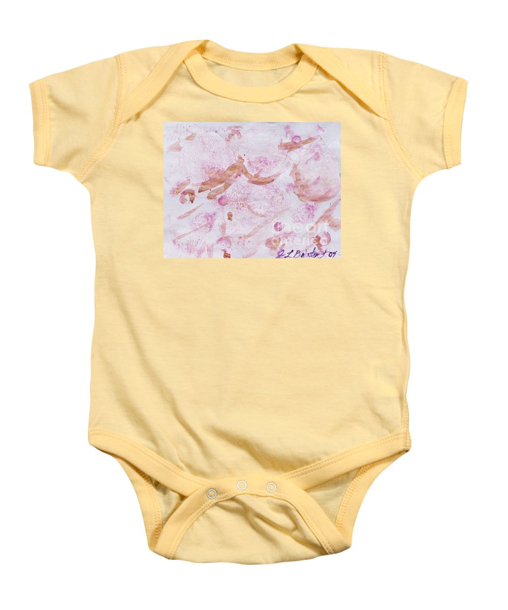 Organic Baby Onesie featuring the painting Abstract- Vegetable Beet Print by Jamey Balester