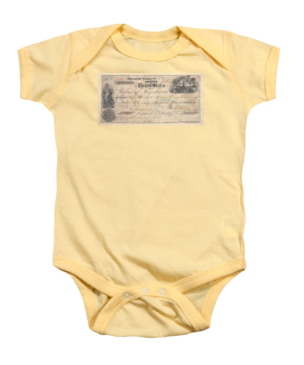 1867 Baby Onesie featuring the photograph Alaska Purchase: Check by Granger