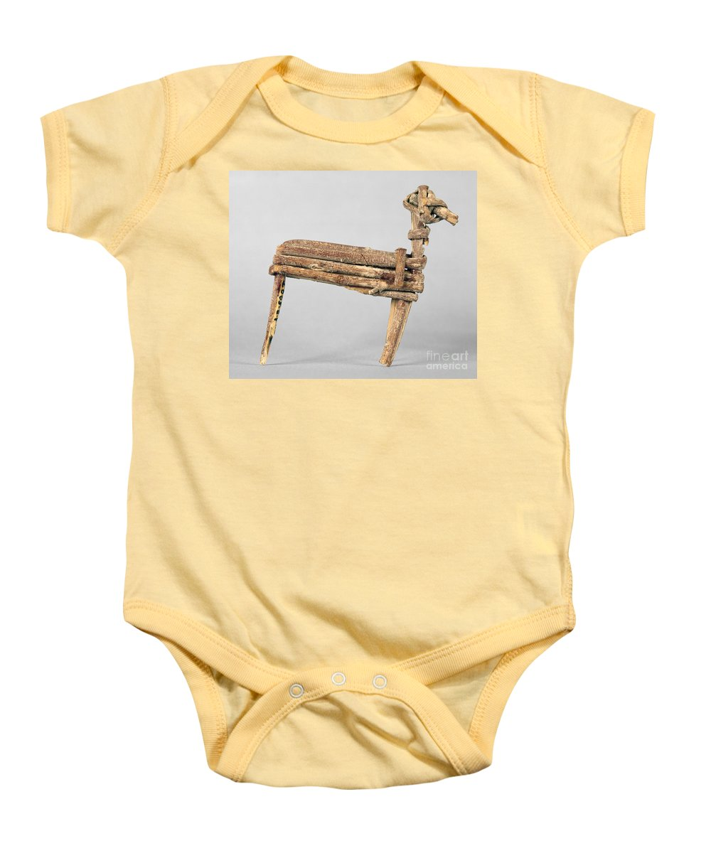200 Baby Onesie featuring the photograph Anasazi Split-twig Figure by Granger