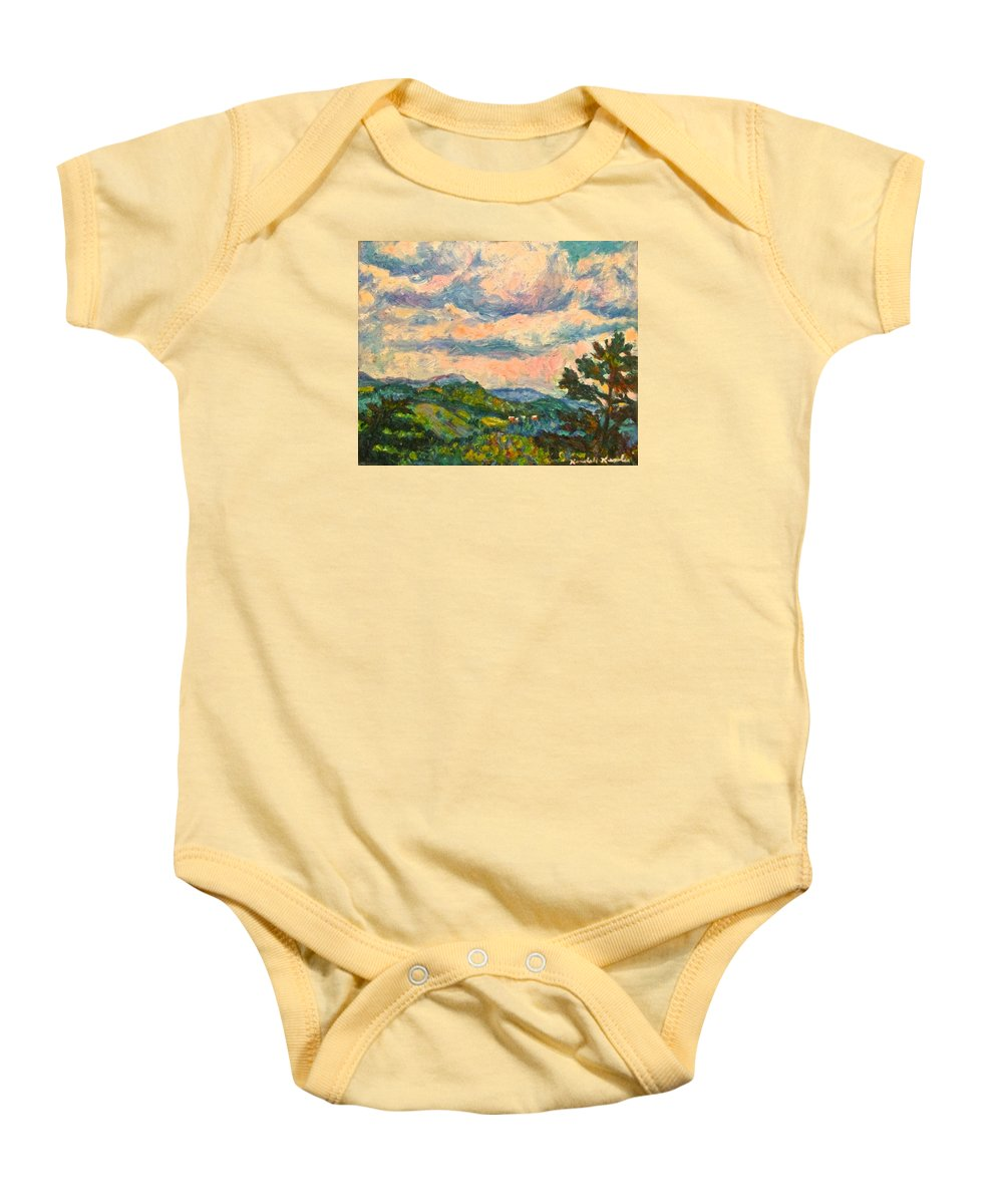 Landscape Paintings Baby Onesie featuring the painting Another Rocky Knob by Kendall Kessler
