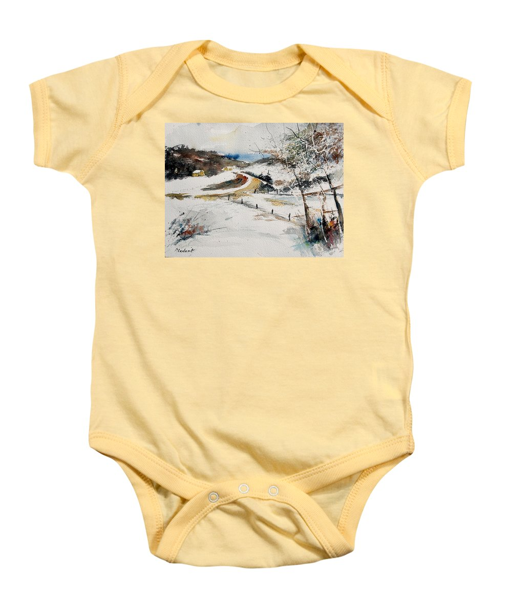 Landscape Baby Onesie featuring the painting Aqua 220908 by Pol Ledent
