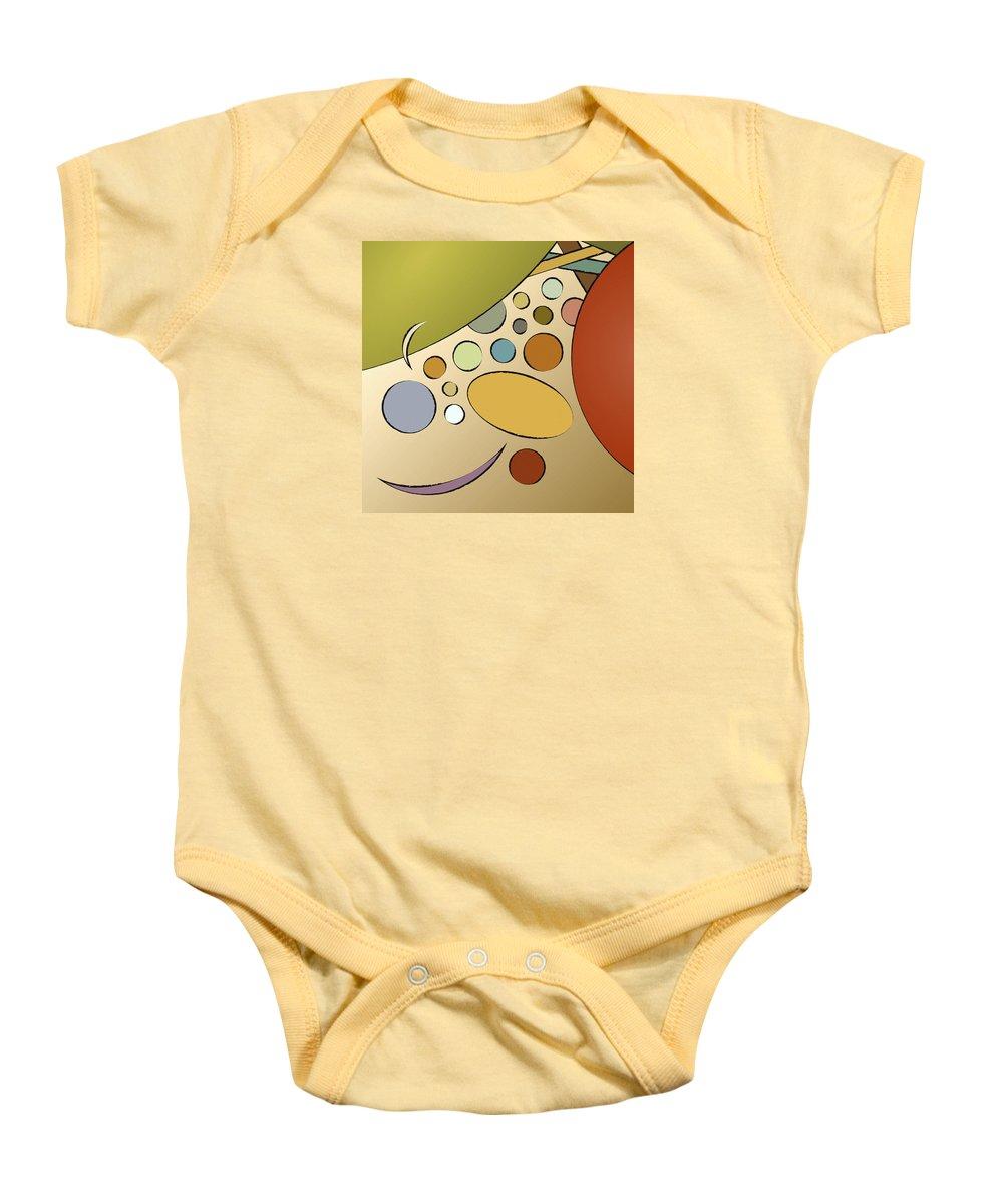 Print Baby Onesie featuring the digital art Smile by Carolyn Rie