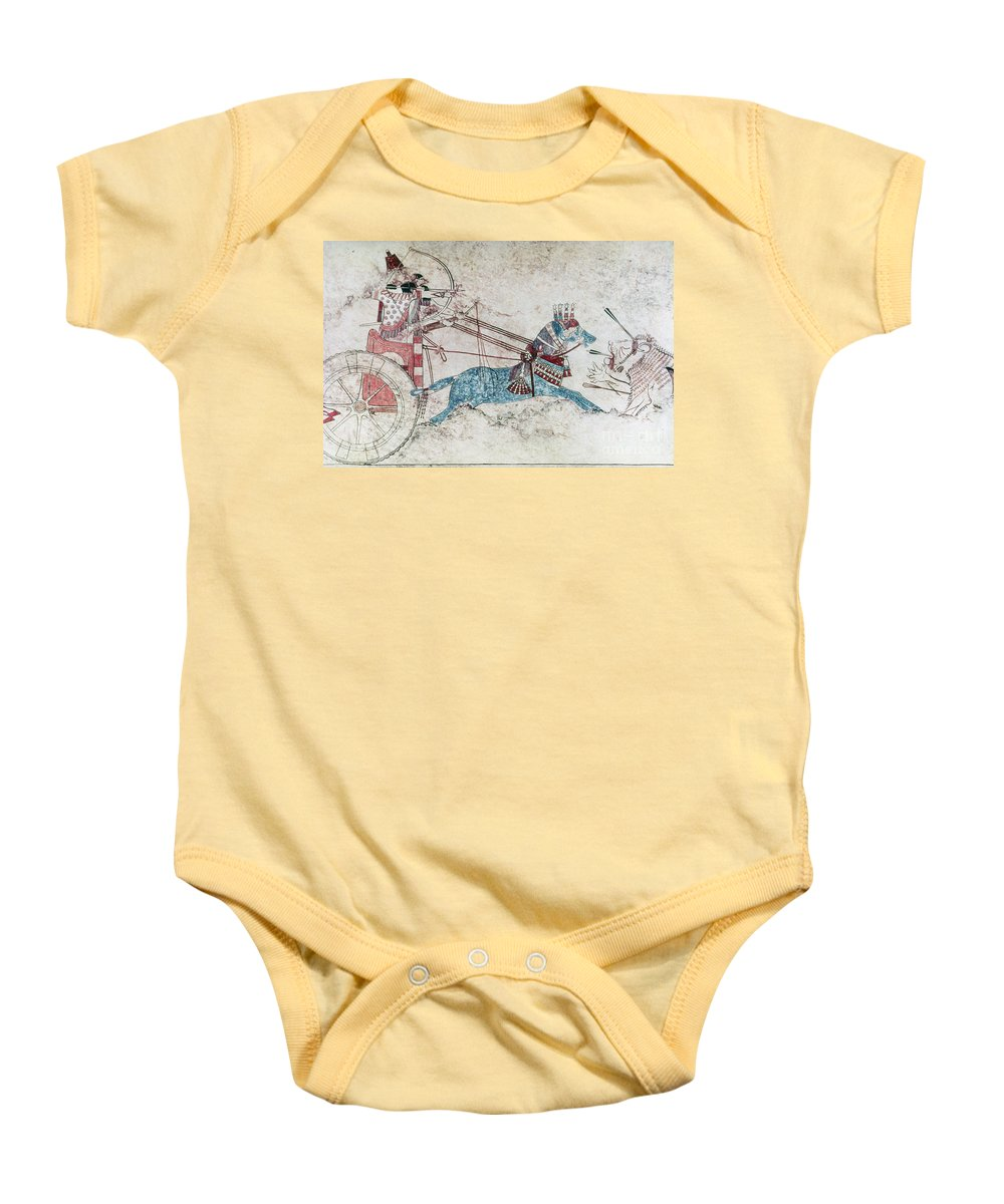 730 B.c. Baby Onesie featuring the photograph Assyrian King 730 Bc by Granger