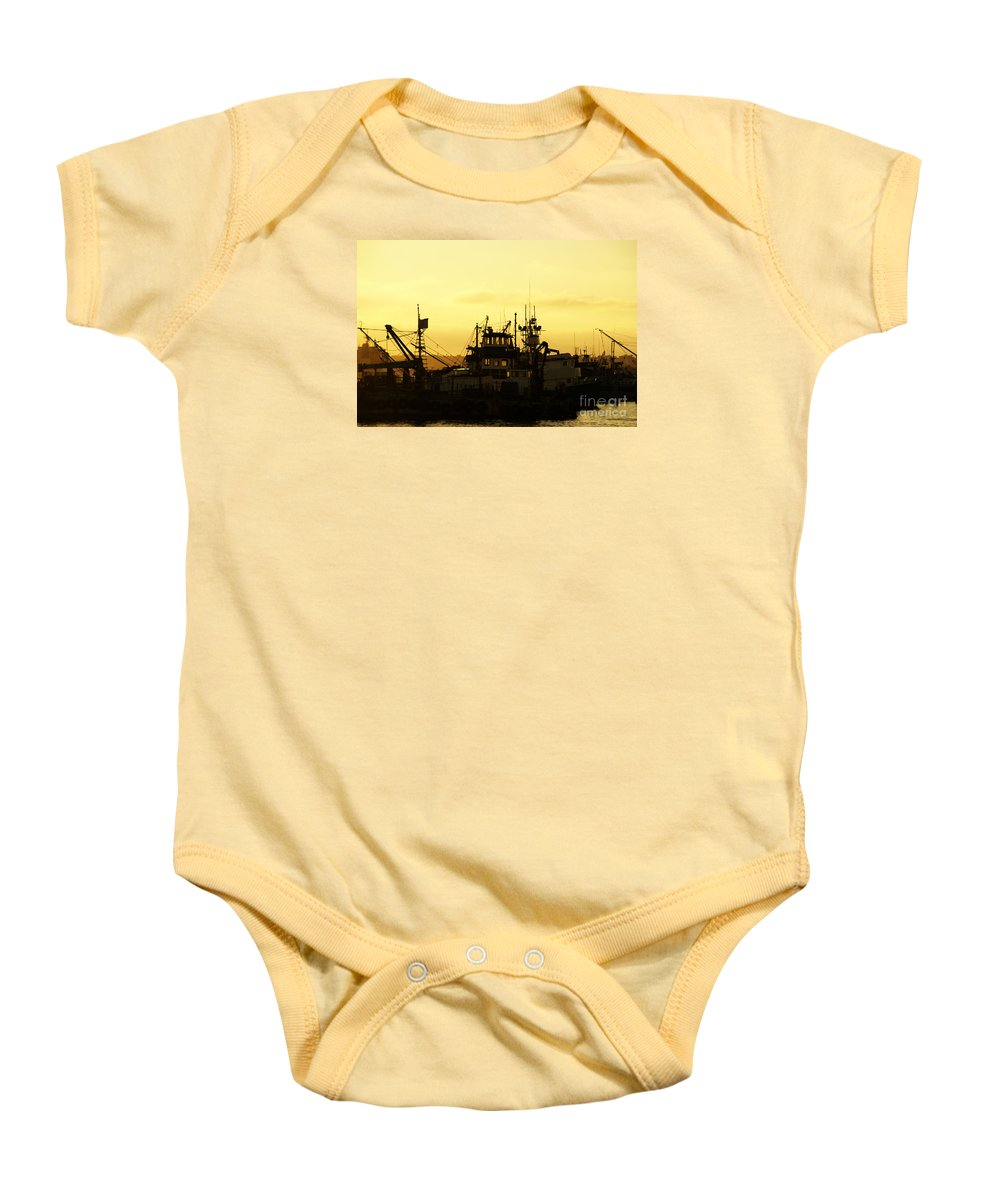 San Diego Baby Onesie featuring the photograph At Days End by Linda Shafer
