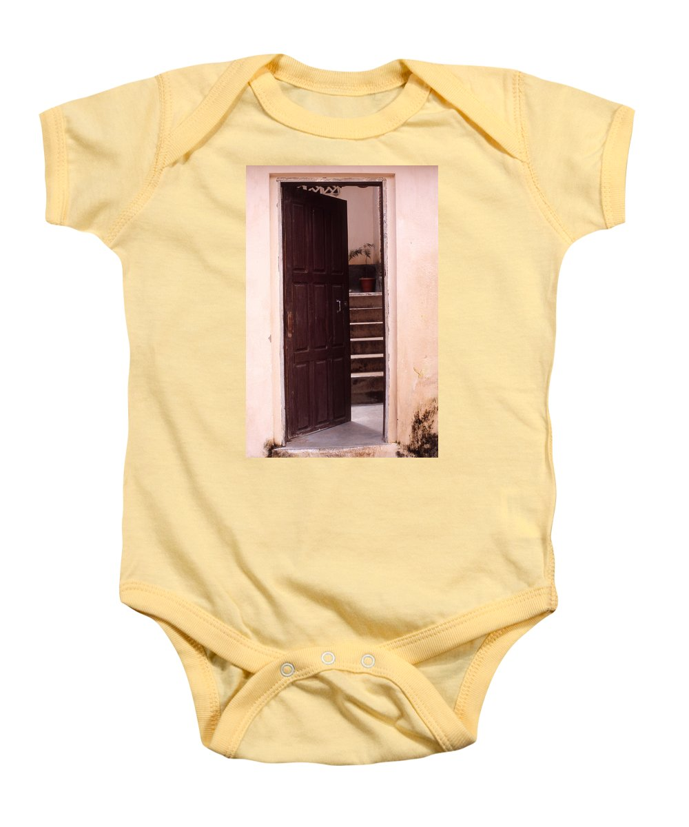 Bahia Baby Onesie featuring the photograph Bahian Opening by Patrick Klauss