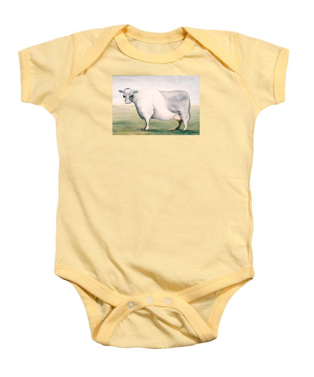 Beef Baby Onesie featuring the painting Beef Holocaust I by Mark Cawood