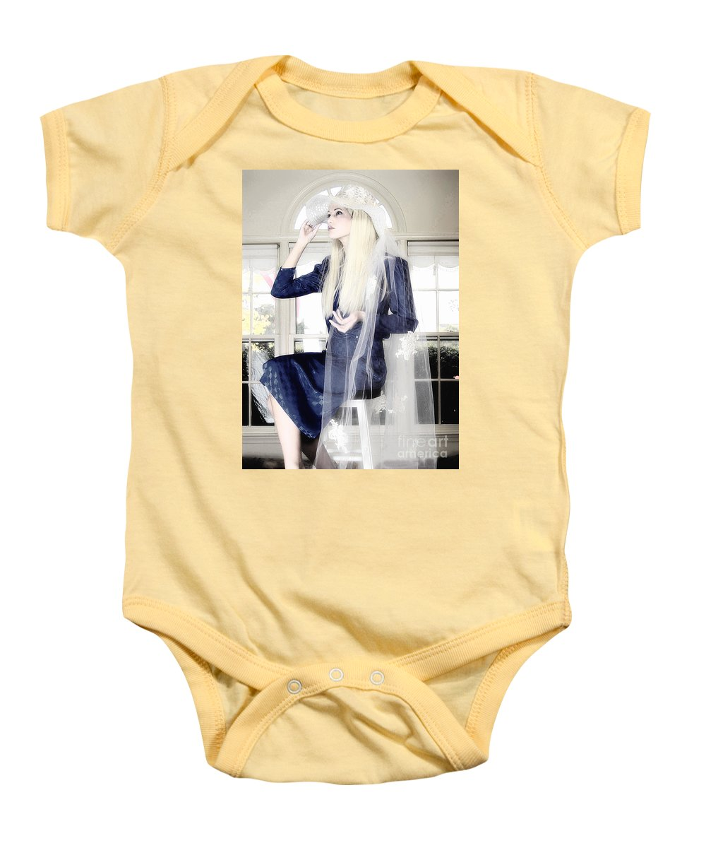 Clay Baby Onesie featuring the photograph Blanco Beauty by Clayton Bruster