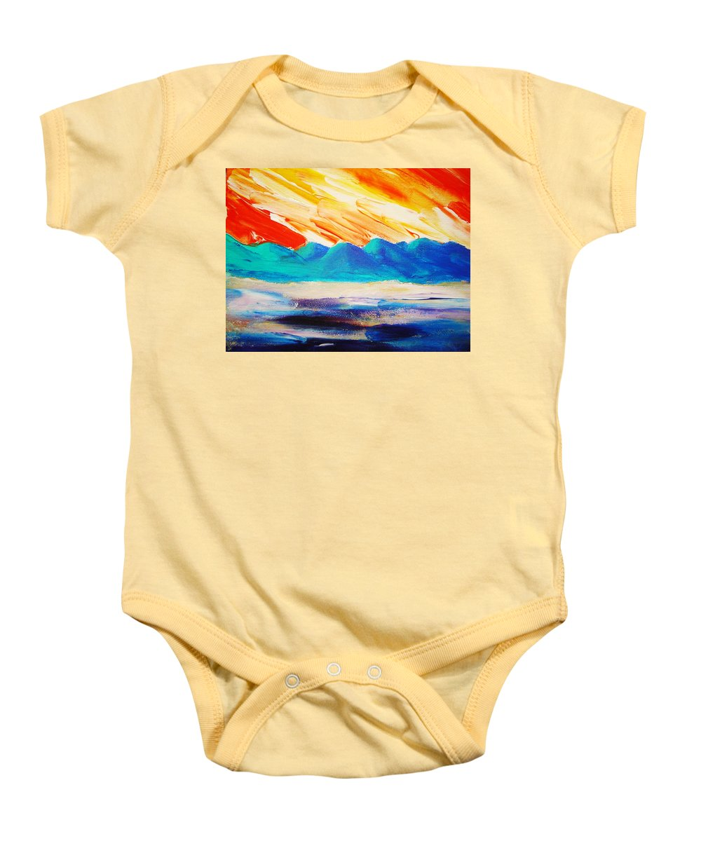 Bright Baby Onesie featuring the painting Bold Day by Melinda Etzold