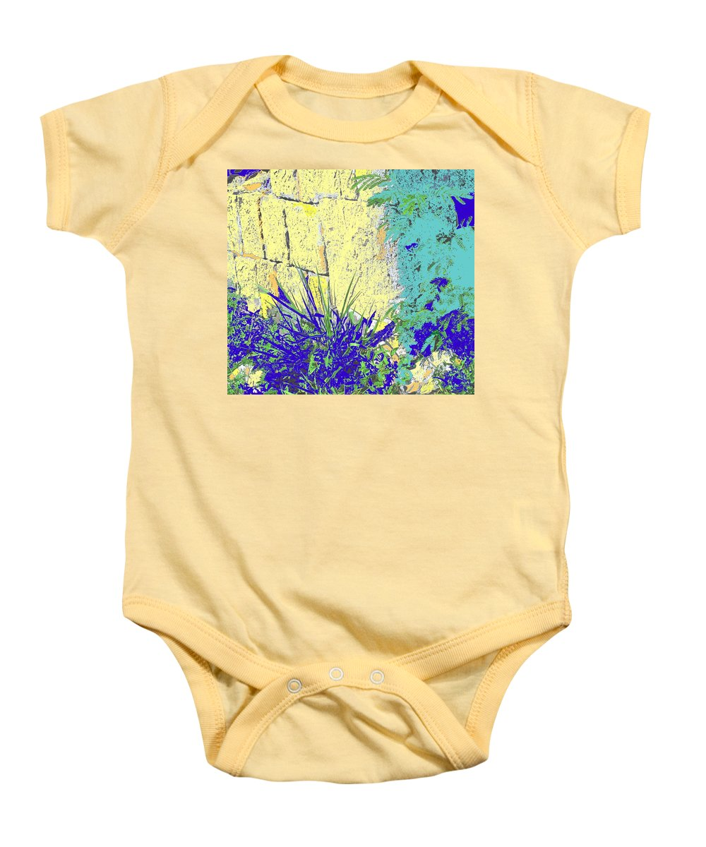 Brimstone Baby Onesie featuring the photograph Brimstone Blue by Ian MacDonald