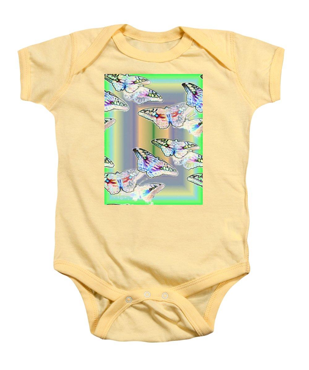 Butterflies Baby Onesie featuring the photograph Butterflies In The Vortex by Tim Allen
