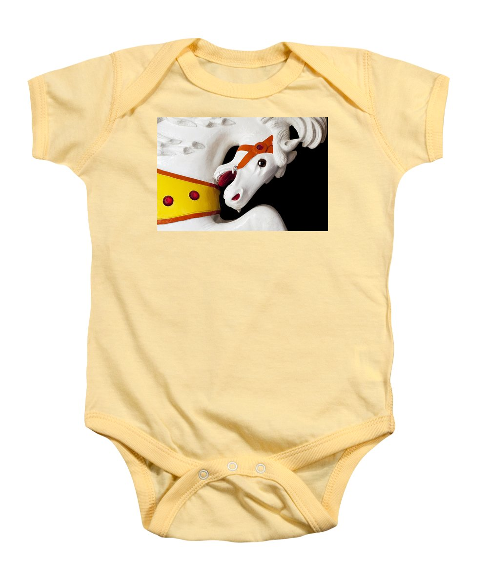 Carousel Baby Onesie featuring the photograph Carousel Horse 2 by Kelley King