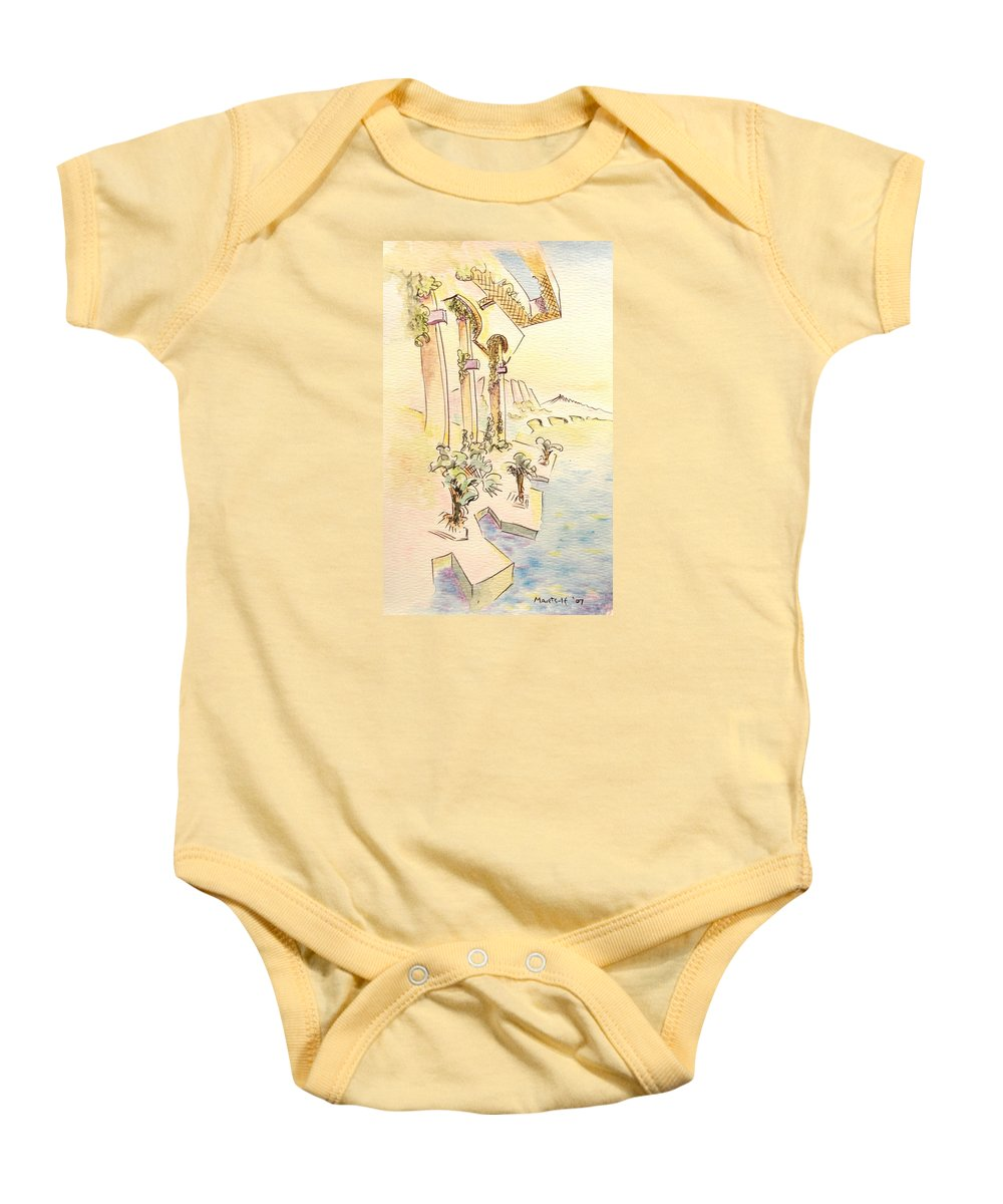 Italian Baby Onesie featuring the painting Classic Summer Morning by Dave Martsolf