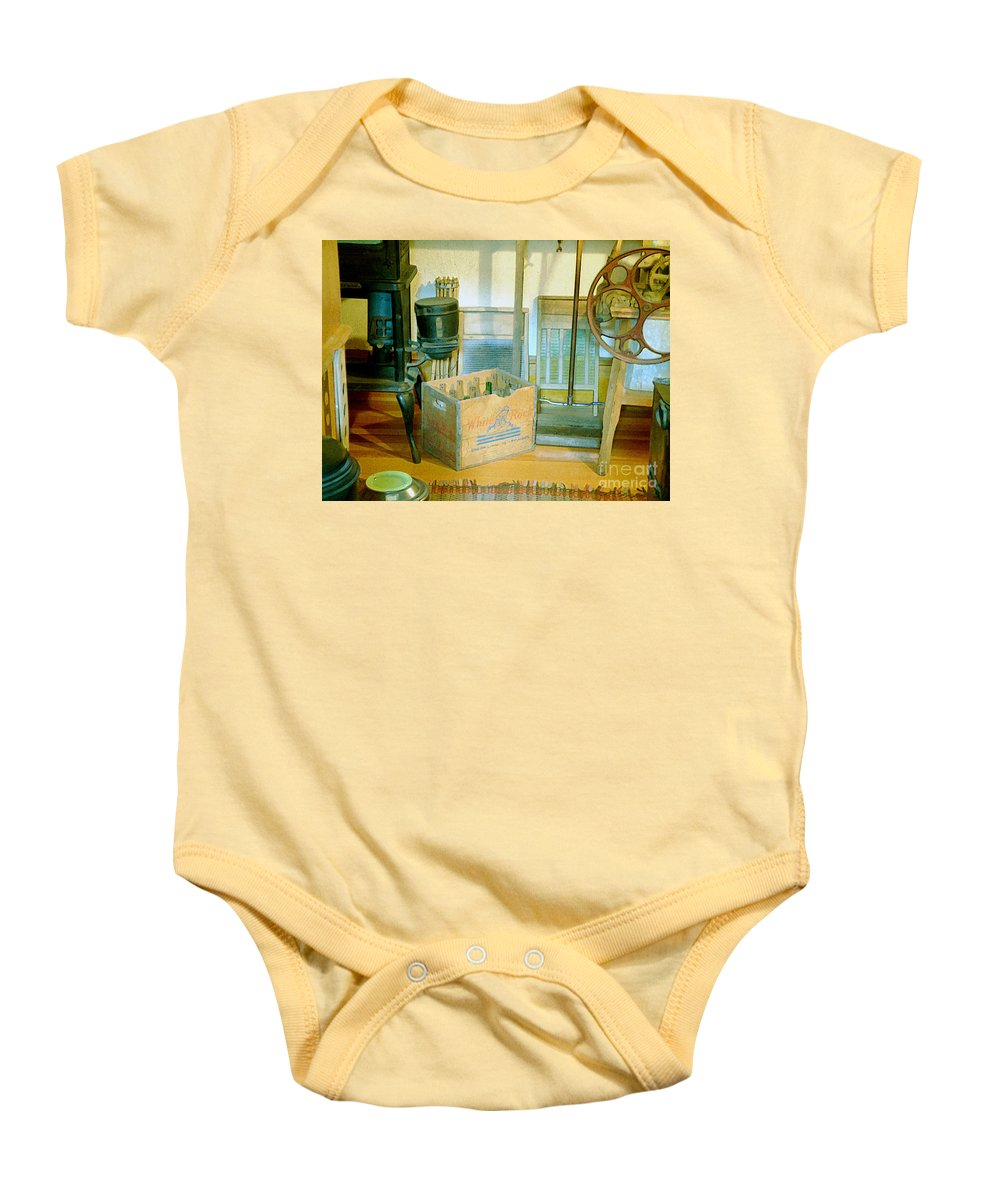 Kitchen Baby Onesie featuring the painting Country Kitchen Sunshine II by RC deWinter