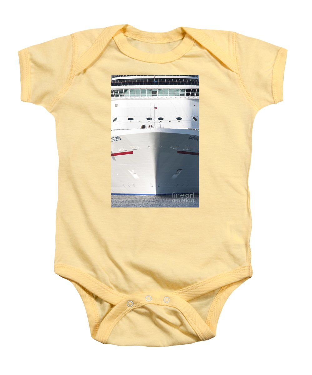 Cruise Ship Baby Onesie featuring the photograph Cruise On by Carol Groenen
