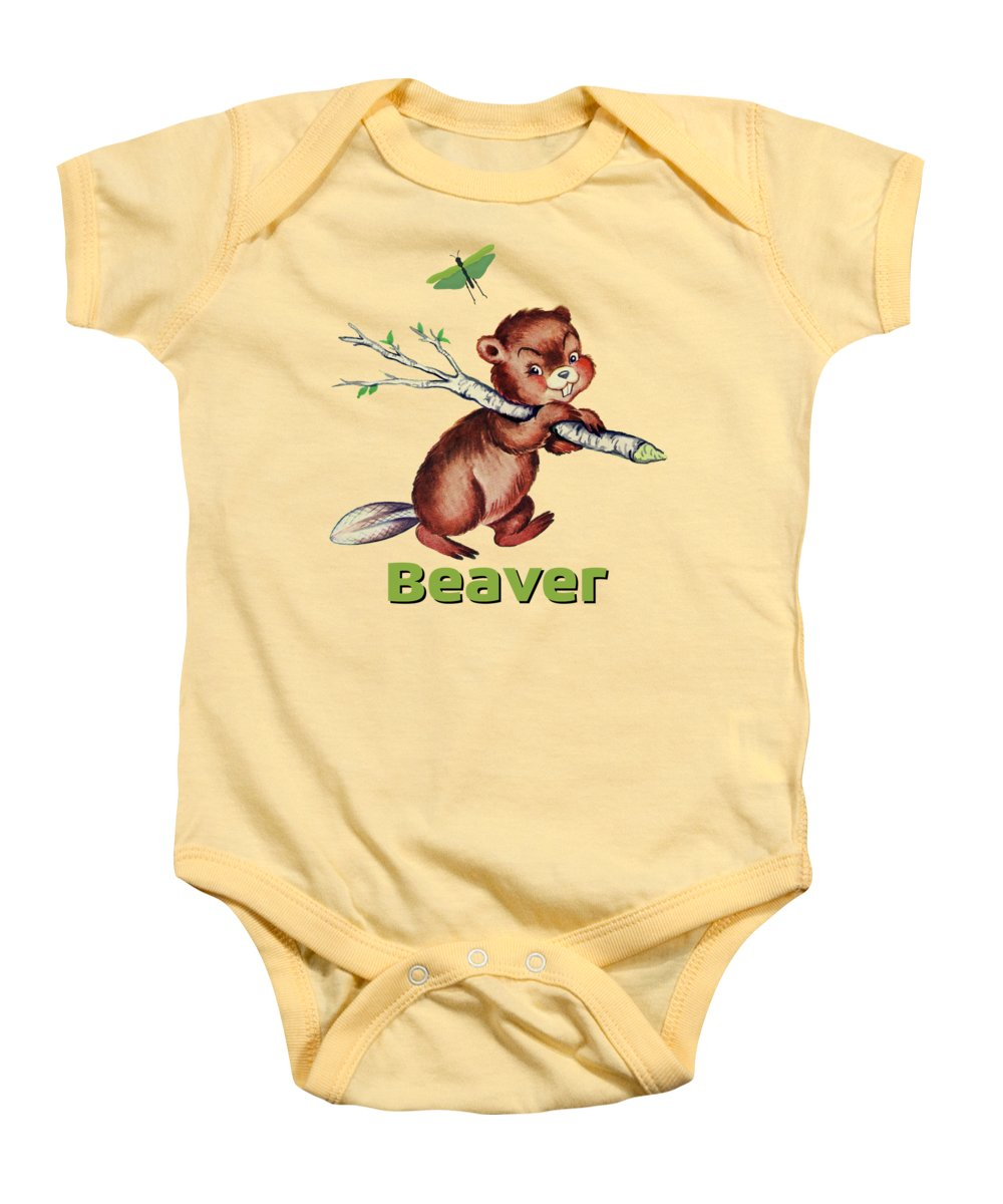 Beaver Baby Onesies