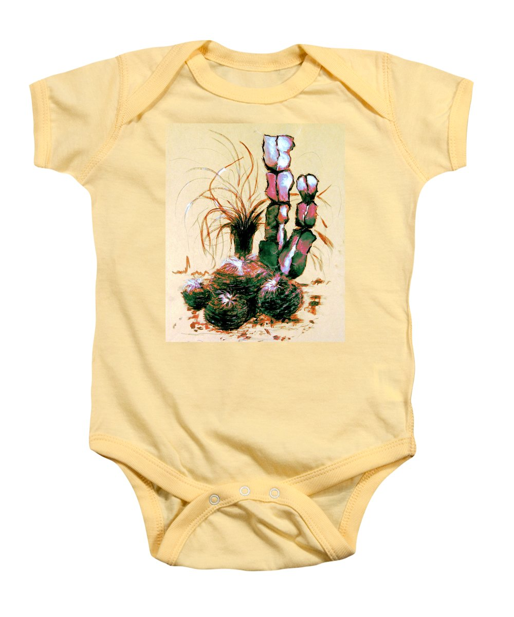 Australian Baby Onesie featuring the drawing Defender Of The Desert 1.1 by Giro Tavitian