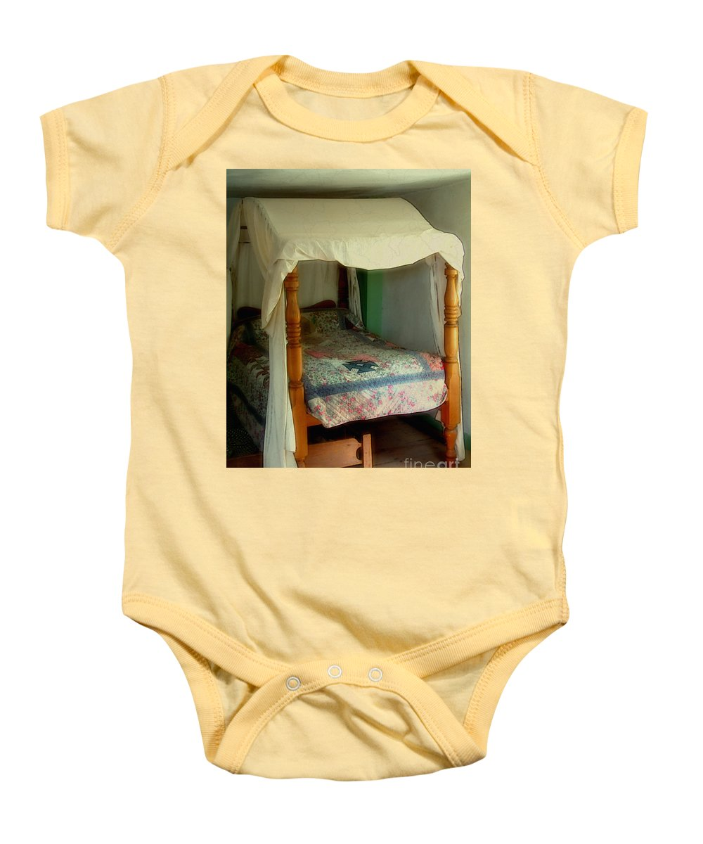 Bed Baby Onesie featuring the painting Delft Light, New England by RC deWinter