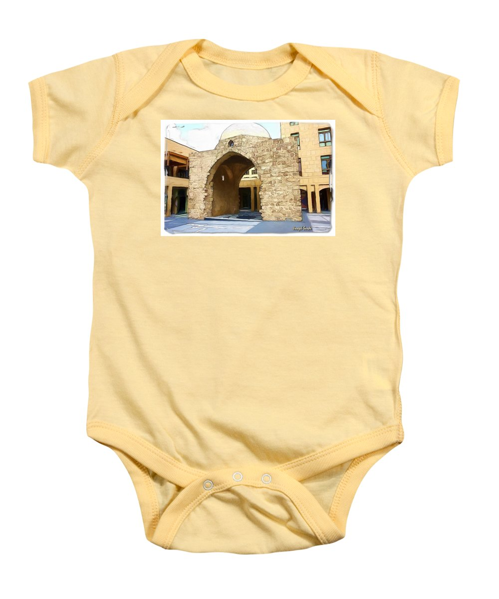 Historic Baby Onesie featuring the photograph Do-00365 Historic Tomb In Downtown by Digital Oil